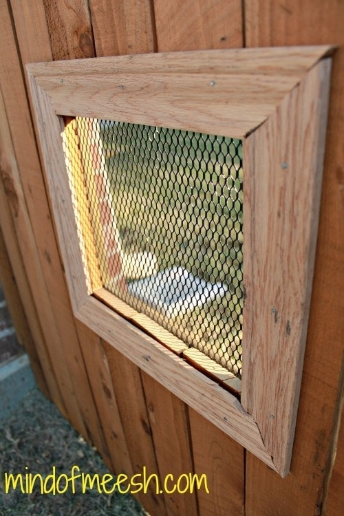DIY Wooden Fence Window for Your Dog