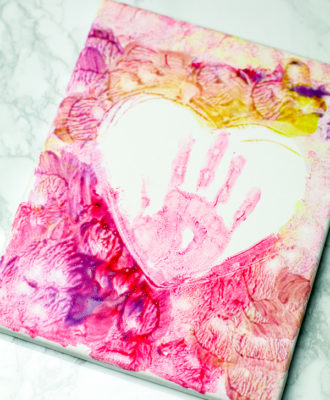 kids valentines day canvas art