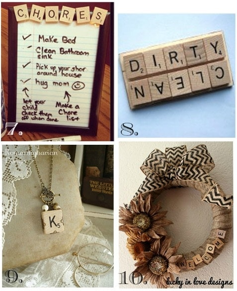 Scrabble Craft Ideas