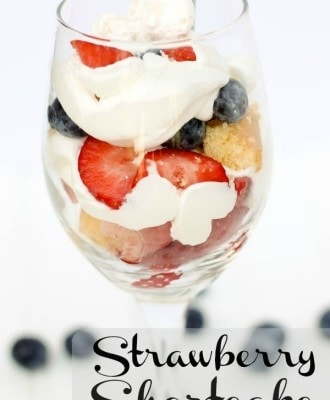 Mini No Bake Strawberry Shortcake Dessert Treat