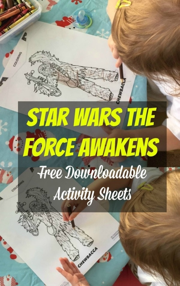 Star Wars the Force Awakens Activity Sheets Pinterest