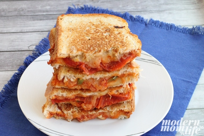 Grilled Cheese Pizza Sandwich