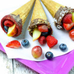 Easy to Make Chocolate Dipped Fruit Cones