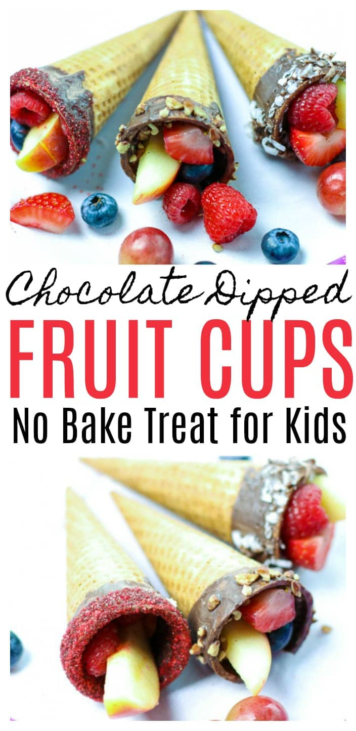 Chocolate Dipped Fruit Cups