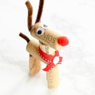 DIY Reindeer Wine Cork Ornaments