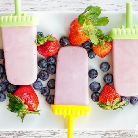 diy yogurt Popsicles