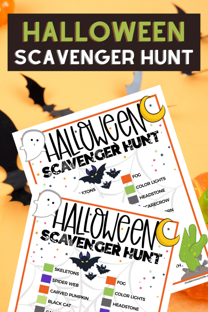 Halloween Scavenger Hunt for Kids printable