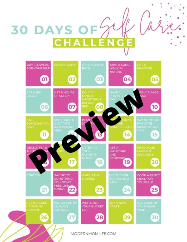 Preview Self Care Challenge